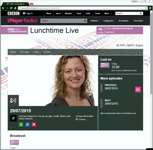BBC Radio Cambridgeshire Jearse and dow