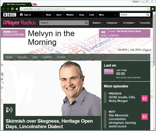 BBC Radio Lincolnshire Jearse and dow
